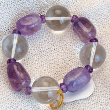 Armband mit Amethyst und Bergkristall