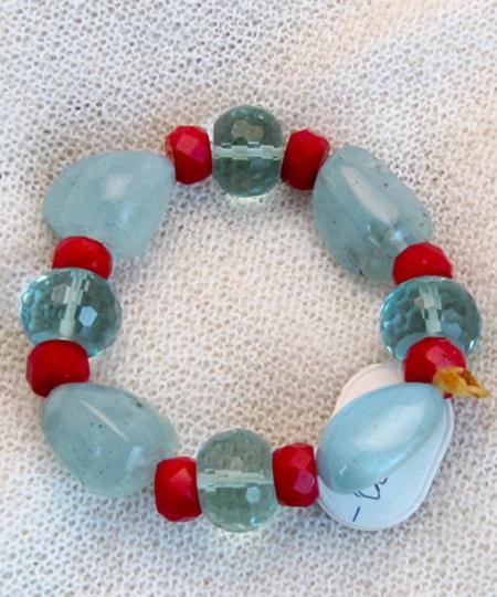Armband mit Fluorit und Glasperlen