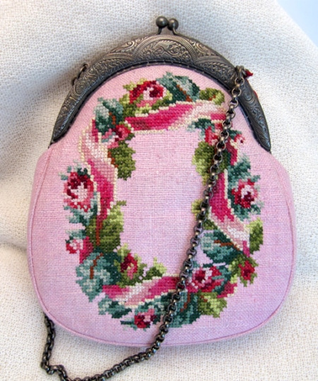"Petit Point Handtasche ""Rose"""