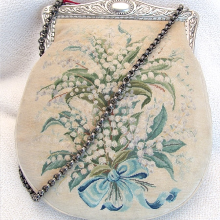 "Petit Point Handtasche ""Muguet"""