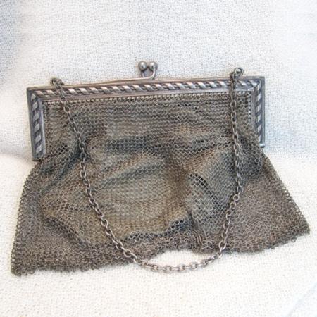 "Silberkettenhemd-Tasche antik ""Luise"""